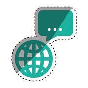 Global sphere symbol Stock Illustration