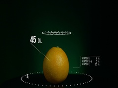 Infographic of Orange with vitamins, microelements minerals. Energy Stock Footage