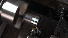 CNC machine work Stock Footage