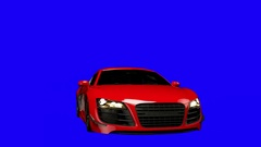 Animated Audi R8 Spin Blue Stock Footage