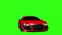 Animated Audi R8 Spin Green Stock Footage