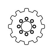 Isolated gear piece Stock Illustration