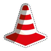 Isolated construction cone Stock Illustration