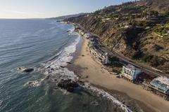 Pacific Coast Highway in Malibu California Stock Photos