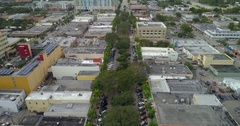 Aerial video Hollywood Boulevard Downtown 4k 60p Stock Footage