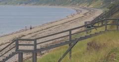 4k Cape Cod, Stairs Leading to Beach Stock Footage