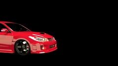 Animated Subaru WRX Passenger Black Stock Footage