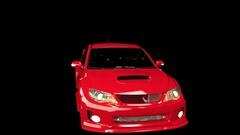 Animated Subaru WRX Spin Black Stock Footage