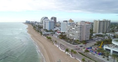 Aerial footage Ft. Lauderdale Beach FL Stock Footage