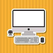 Computer icon design, vector illustration Stock Illustration