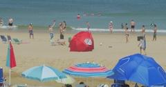 4K Cape Cod Beach Friends Stock Footage