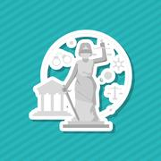 Law and Justice sculpture design, vector illustration Stock Illustration