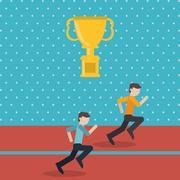 Winner and trophy design Stock Illustration