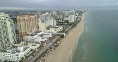 Fort Lauderdale Florida aerial 4k 60p circa 2016 Stock Footage