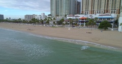Drone video Fort Lauderdale Beach Stock Footage