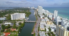 Miami Beach aerial tour 4k Stock Footage
