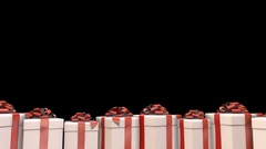 Christmas Presents with Alpha Stock Footage