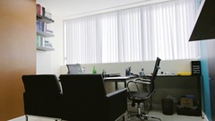 Empty Office Interior Immersion Stock Footage