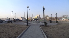 Monument tiger. Vladivostok. Stock Footage