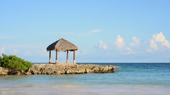 Bungalow on the beach Stock Footage