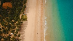 Aerial view beautiful beach on a tropical island. Philippines, El Nido Stock Footage