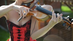 Close-up of musician playing violin Stock Footage