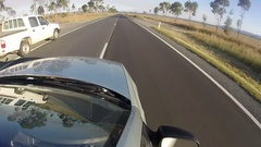Australia, Outback, Gopro Car Point Of view, travel, Windshield Stock Footage