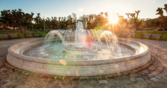 Timelapse of fountain in san francsco golden gate park Stock Footage