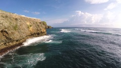 Flying along the cliffs Stock Footage