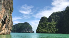 Exotic landscape in Thailand Stock Footage