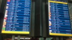 Flight Information Display System, Digital Board Stock Footage