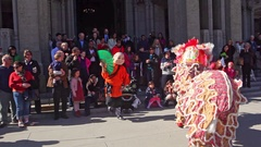 Chinese New year performance at Grace Cathedral, San Francisco Arkistovideo