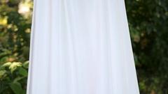Wedding dresses outdoor Stock Footage