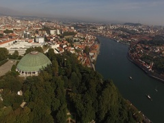 The Wonderful Porto Town view from the Crystal Palace Stock Footage