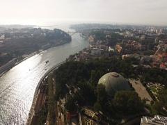 Flight Beautiful European City of Porto, Portugal Stock Footage