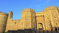 Windsor Castle, Berkshire, England Stock Footage