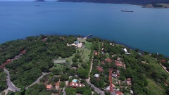 Aerial View of in Ilhabela, Sao Paulo, Brazil Stock Footage