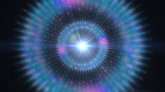 A graphic Pulsar star radiating light and pulsating energy (Loop). Stock Footage