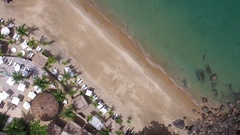 Top View of Praia do Curral (Curral Beach) in Ilhabela, Sao Paulo, Brazil Stock Footage