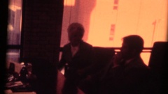 Vintage 8mm home movie, justice of the peace preforming wedding Stock Footage