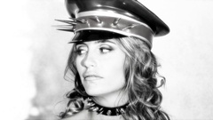Military hat fetish woman cute babe sexy Stock Footage