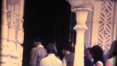 Vintage 8mm home movie, tourist at Hearst Castle, San Simeon ,CA Stock Footage