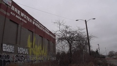 Brewster Projects Detroit MI, Pan Of Buildings Stock Footage