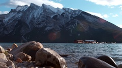 Town of Banff and other scenic and wildlife from the area. Stock Footage