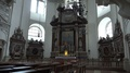 4k Baroque dome cathedral Salzburg Austria panning with organ and altar 4k or 4k+ Resolution