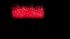 Spectacular Fireworks show, red linear fireworks, multiple lines. Full HD Ver Stock Footage