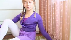 Portrait of a cute young girl 2 Stock Footage
