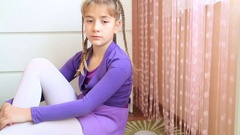 Portrait of a cute young girl Stock Footage