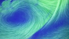 Hurricane formation view from space Stock Footage