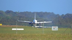 Gold Coast, Airport, Plane Landing Stock Footage
